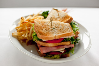 Club Sandwich and French Fries