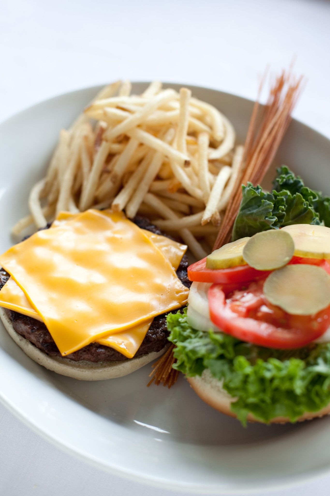Eagle Burger and French Fries