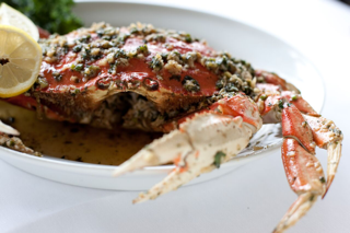 Dungeness Crab with sautéed Ginger, Garlic and Scallion Sauce